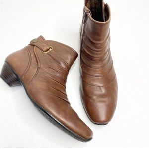 Josef Seibel brown leather ankle boots